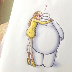 Honey and Baymax :) by DeeeSkye on deviantART