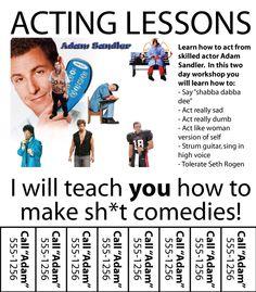 Adam Sandler acting school