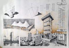 Subiecte – Page 3 – Vlad Bucur Concept Board Architecture, Architecture Presentation Board, Architecture Art Design, Architecture Portfolio, Facade Architecture, Presentation Board Design, Plan Sketch, Architectural Section, Architectural Drawings