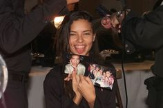 Supermodel #TBTs: Gisele, Kate, and More Backstage Moments From the Greats – Vogue - Adriana Lima, 2001