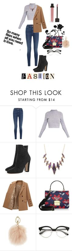 """""""And a pinch of confidence"""" by vilzak on Polyvore featuring J Brand, Kendra Scott and Furla"""