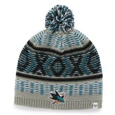 3583910b0be Women s San Jose Sharks  47 Brand Teal Starling Knit Beanie