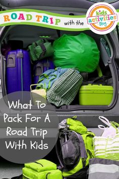 What to pack for a road trip with kids - I never would have thought of #5, but now I'm never leaving without one!