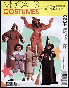 Amazon Image, Amazon Art, Costume Patterns, Sewing Patterns, Sewing For Kids, Sewing Stores, Pilgrim, Sewing Crafts, Easy