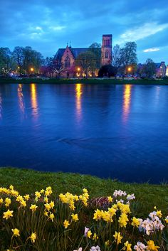 Inverness Cathedral on the River Ness in the Scottish Highlands by Daniel Peckham. Another inverness to visit Places Around The World, The Places Youll Go, Places To See, Around The Worlds, Voyage Europe, Scotland Travel, Scotland Trip, Scotland Castles, Ireland Travel