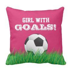 Soccer Football Ball Pink Pillow Almohadas Rosadas a7fddedf47c33