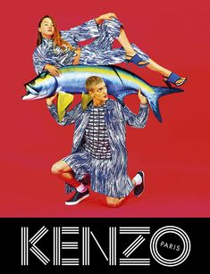 Campagne publicitaire Kenzo, 2014 - collage