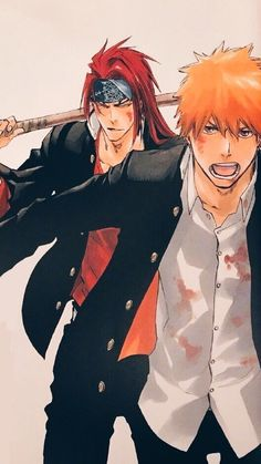 Ichigo and renjiYou can find Bleach anime and more on our website.Ichigo and renji Bleach Anime, Ichigo Y Orihime, Bleach Renji, Renji Abarai, Bleach Fanart, Shinigami, Me Anime, Anime Guys, Manga Anime