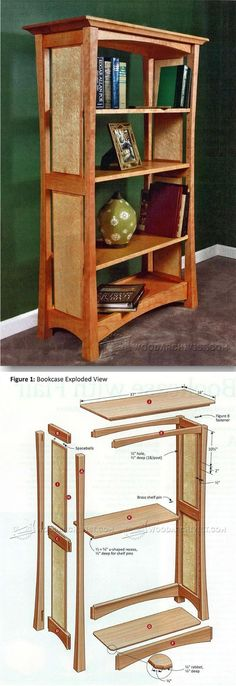Build Bookcase - Furniture Plans and Projects | http://WoodArchivist.com