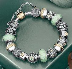 One of the prettiest Pandora bracelets I've ever seen | www.goldcasters.com