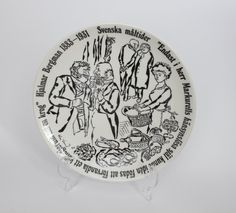 Gustavsberg 1976 Plate Swedish Meals Limited Edition Collection, $16