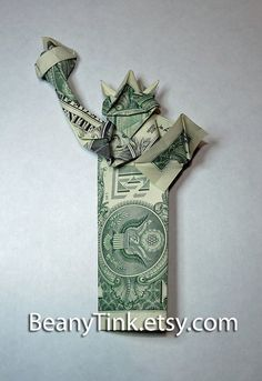 Dollar Origami  Statue of Liberty  Lady Liberty by BeanyTink