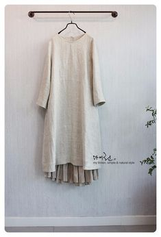 0번째 이미지 Mori Fashion, Muslim Fashion, Modest Fashion, Hijab Fashion, Fashion Dresses, Womens Fashion, Linen Dresses, Cotton Dresses, Mori Mode