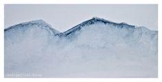 Mountain peaks in Indigo blue