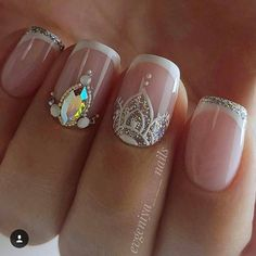 """Explore our internet site for even more info on """"acrylic nail art designs ring finger"""". It is an excellent place for more information. Acrylic Nails Natural, Almond Acrylic Nails, Acrylic Nail Art, Love Nails, Pretty Nails, My Nails, French Nails, Indian Nails, Indian Nail Art"""