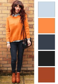 Ősz színtípus színei combinacion colores ropa, combinar colores ropa, co Colour Combinations Fashion, Color Combinations For Clothes, Fashion Colours, Colorful Fashion, Color Combos, Wardrobe Color Guide, Magazine Mode, Mode Jeans, Fashion Vocabulary