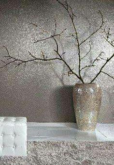 35 Inspiring Glitter Wall Paint to Make Over Your - Home Design Cork Wallpaper, Metallic Wallpaper, Bedroom Wallpaper Accent Wall, Accent Walls, Wallpaper Backgrounds, Glitter Paint For Walls, Glitter Art, Glitter Lips, Glitter Eyeshadow