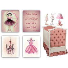Ballerina Nursery Art