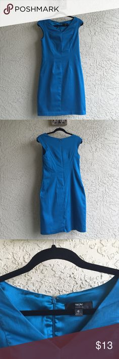 Mossimo Stretch Dress Turquoise Blue with a Satin Liner Size 6 Mossimo Dresses