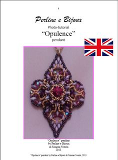 ENGLISH Tutorial OPULENCE pendant English by PerlineeBijoux