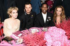 (L-R) Kiernan Shipka, Kris Van Assche, Dior, ASAP Rocky and Alexia Niedzielski attend the 2015 Guggenheim International Gala Dinner made possible by Dior at Solomon R. Guggenheim Museum on November 5, 2015 in New York City.