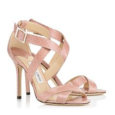 The Jimmy Choo Lottie in Blush Elaphe wedding shoe - different but loving the color and style!