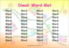 Editable Diwali word mat (SB10734) - SparkleBox