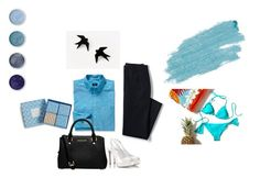 """""""Ocean Blue- Fashion has no limit"""" by lim-qiqi on Polyvore featuring GANT, Lands' End, Fratelli Karida, MICHAEL Michael Kors, Jane Iredale, Terre Mère and Vera Bradley"""