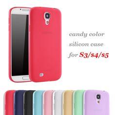 Snoep Kleur Zachte tpu Siliconen Beschermhoes voor Samsung Galaxy S4 i9500 i9505 i9300 S3 S5 NEO i9600 Silicon Cover Case Coque