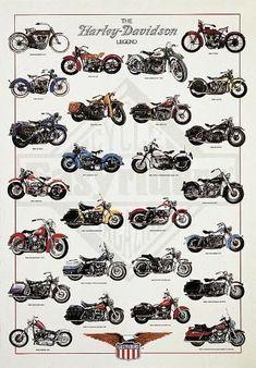 Art Print: The Harley-Davidson Legend by Libero Patrignani : 38x27in #harleydavidsonroadkingpolice #harleydavidsonroadking2017 #harleydavidsonroadking2018 #harleydavidsonroadkingcustom Harley Davidson Cake, Harley Davidson Wallpaper, Classic Harley Davidson, Harley Davidson Chopper, Harley Davidson Street Glide, Harley Panhead, Harley Davidson Knucklehead, Harley Bikes, Harley Davidson Motorcycles