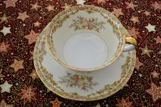 Vintage tea cup and saucer - Noritake china