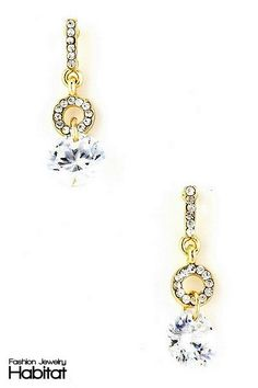 Glacier Charm Dangle Earrings -  $13.00 at FashionJewelryHabitat.com - #FashionJewelryHabitat #FashionHabitat