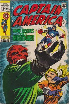 Captain America #115 Vol 1 Marvel Comics FN/VF 7.0