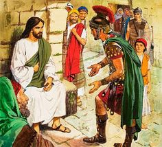 """December 1st - Matthew 8:5-11: hen Jesus entered Capernaum, a centurion approached him and appealed to him, saying, """"Lord, my servant is lying at home paralyzed, suffering dreadfully."""" He said to him, """"I will come and cure him."""" The centurion said in reply, """"Lord, I am not worthy to have you enter under my roof; only say the word and my servant will be healed."""