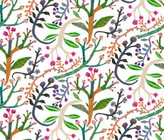 spring florals fabric by walkyland on Spoonflower