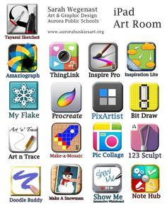 This is a list of apps which are supposed to be great for the art room. I haven't tried all of them yet.