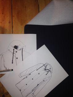 Skisser från Bomärke  #Retro #Rainwear #Regnkappa #Skiss Nice Things, Retro, Rustic, Mid Century
