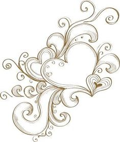 Download Free Cool tattoo design: Tattoo Ideas Heart Doodle Herz Design Shoulder ... to use and take to your artist.
