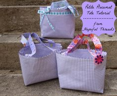 Tote bags made from placemats