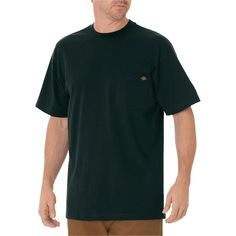 Dickies Big & Tall Cotton Heavyweight Short Sleeve Pocket T-Shirt- Hunter Green Xxl Tall
