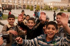 #Iranian boys on a school field trip at Imam Square in Esfahan (#Isfahan), Iran. #IranianPeople #Iran