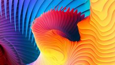 3D Colorful Spiral Wallpaper