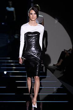 Spring 2001 Tom Ford for Gucci Black Leather Dress