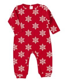 This Tesa Babe Red Snowflake Playsuit - Infant by Tesa Babe is perfect! #zulilyfinds
