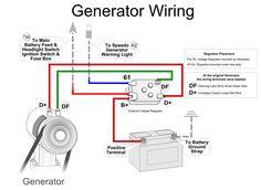 generator wiring baja bugs pinterest generators vw and volkswagen rh pinterest com vw beetle generator wiring volkswagen generator wiring diagram