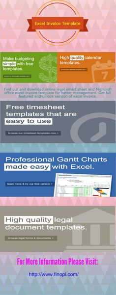 excel invoice templates | invoice templates | pinterest, Invoice examples