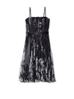 57% OFF JS Collections Women's Printed Mesh Dress (Black/White)