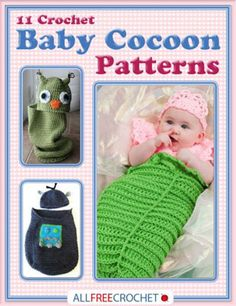 Free -11 Crochet Baby Cocoon Patterns eBook