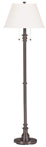 Kenroy Home Spyglass Floor Lamp, Bronze: Features: -Floor Lamp.-On/off pull chain switches. Specifications: -Requires two 100 watt (M) bulbs (not included). Commercial Office Furniture, Cool Floor Lamps, Floor Lamp With Shelves, Bronze Floor Lamp, Table Lamps For Bedroom, Contemporary Floor Lamps, Lamps For Sale