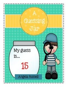 This is a fun activity for your Math Center. Students will look at a jar filled with items and make a guess of how many they think are inside.There is also a mini sheet to fill-out, a classproject to do together and 25 picture cards.